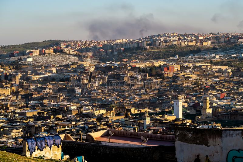 View of Medina in fes morocco, photo as background royalty free stock image