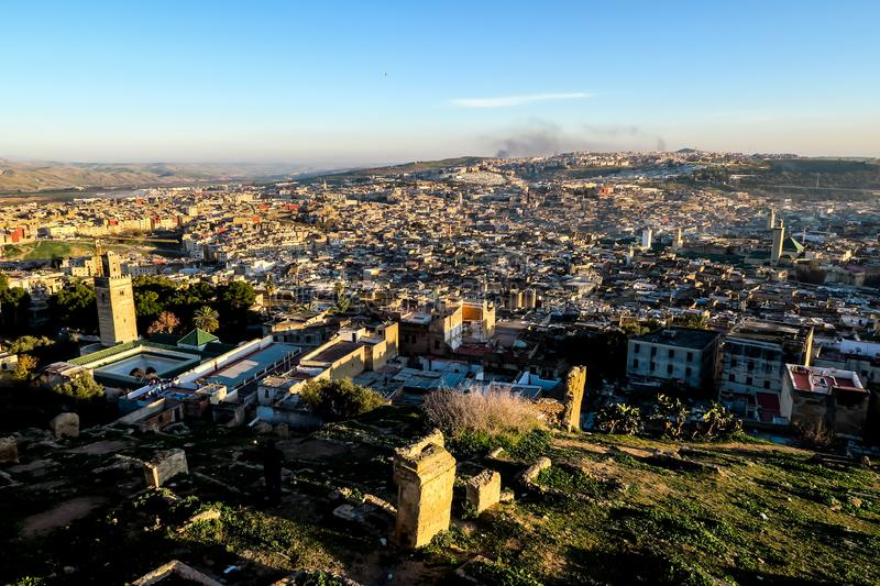 View of Medina in fes morocco, photo as background royalty free stock photos