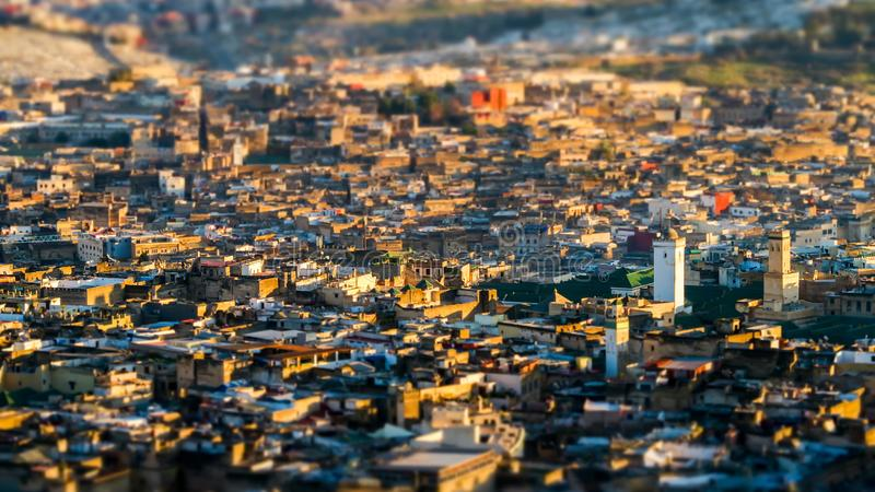 View of Medina in fes morocco, photo as background royalty free stock images
