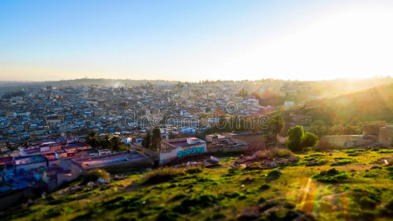 View of Medina in fes morocco, photo as background royalty free stock photography