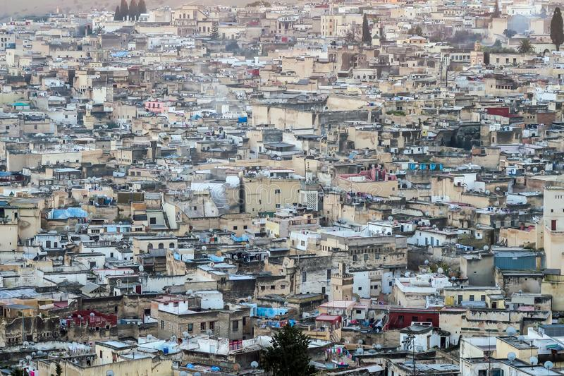 View of Medina in fes morocco, photo as background stock images