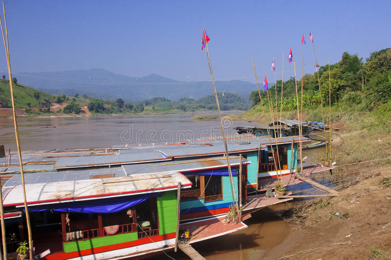 View of the Mekkong in Laos royalty free stock images