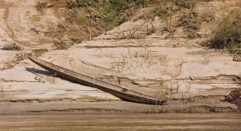 View of the Mekkong in Laos stock image