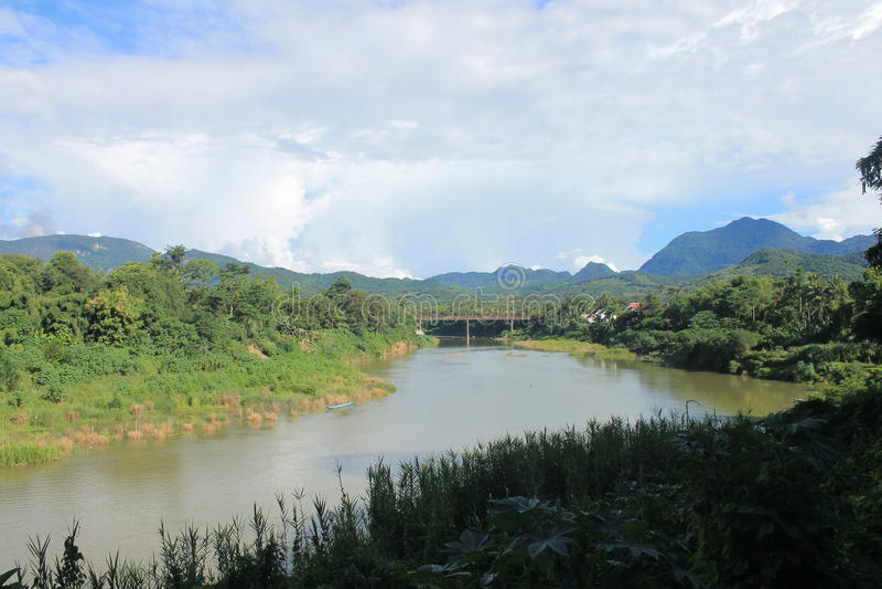 View on the Mekong,Laos stock image