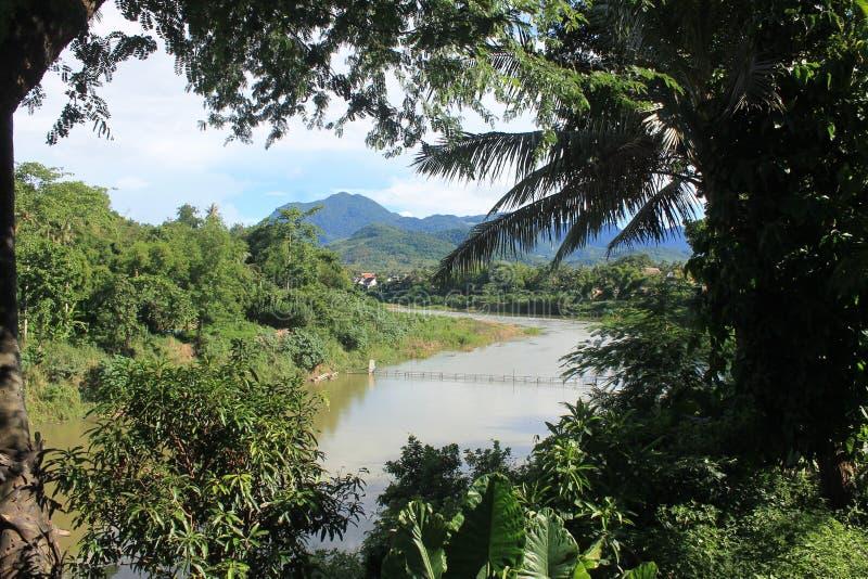 View on the Mekong,Laos stock photos