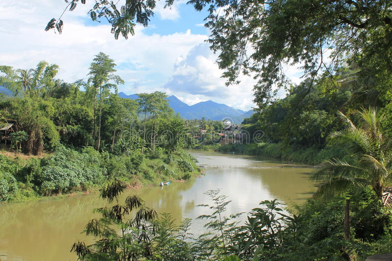 View on the Mekong,Laos royalty free stock photo