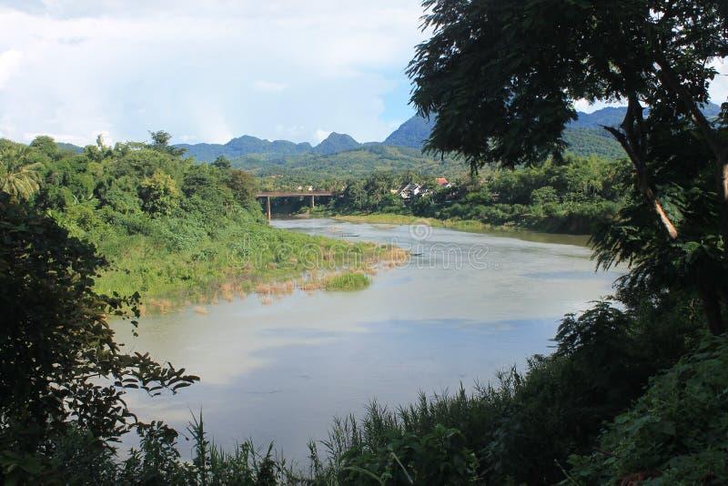 View on the Mekong,Laos stock photo