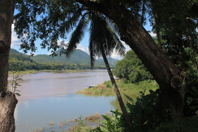 View on the Mekong,Laos royalty free stock images