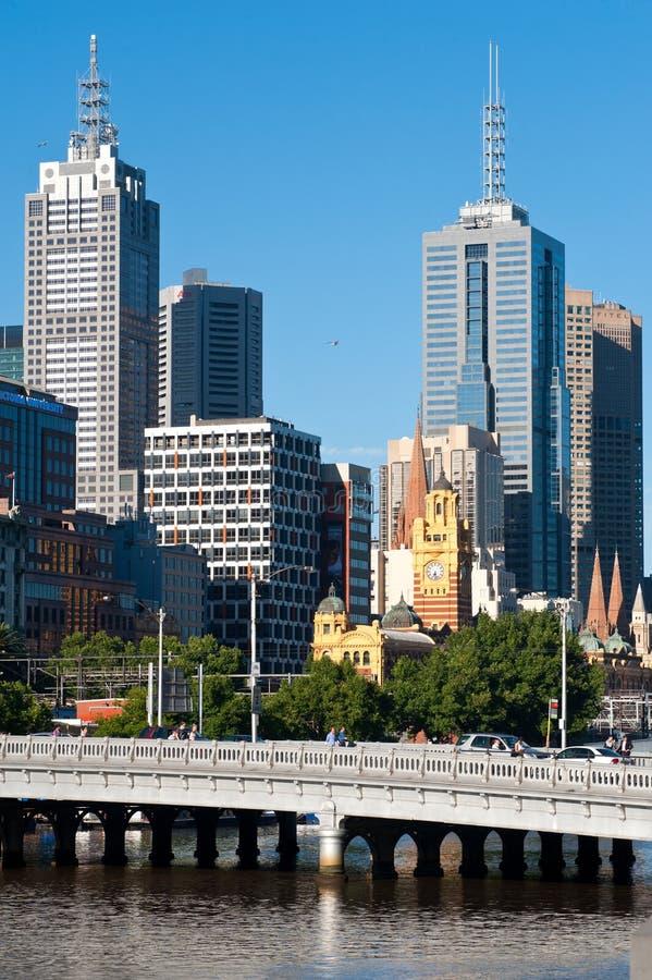 View Melbourne city - Victoria - Australia royalty free stock photo