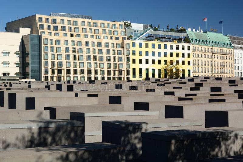 View of Memorial to the Murdered Jews of Europe. Berlin. Germany. Berlin is the capital and largest city of Germany; the Memorial to the Murdered Jews of Europe stock photos