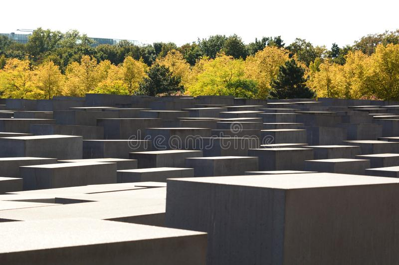 View of the Memorial to the Murdered Jews of Europe. Berlin. Germany. Berlin is the capital and largest city of Germany; the Memorial to the Murdered Jews of stock photo