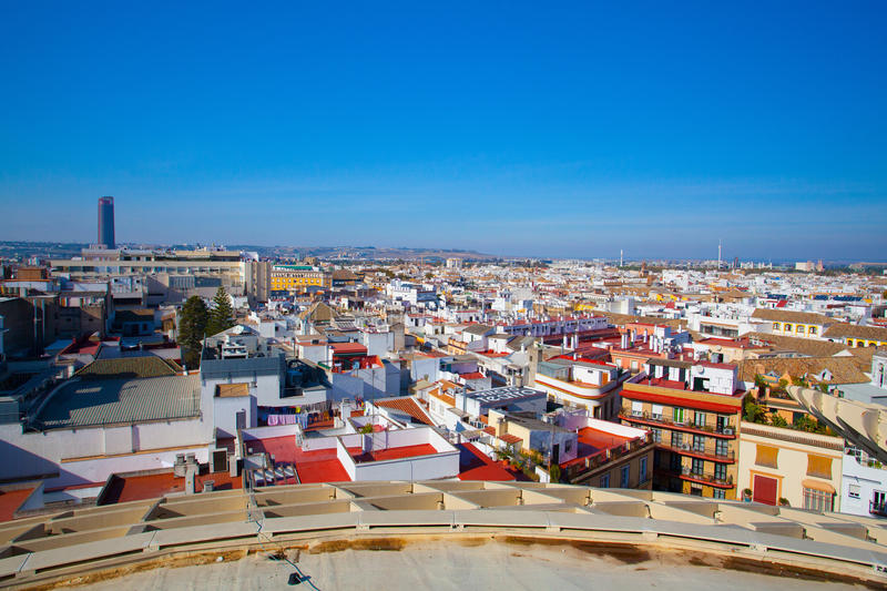 View from Metropol Parasol.Seville, Spain royalty free stock image