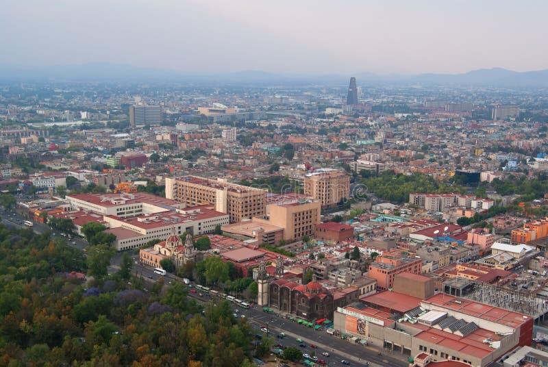 View of Mexico City center stock photos