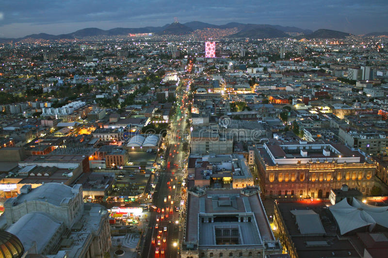 View of Mexico City before sunset royalty free stock photography