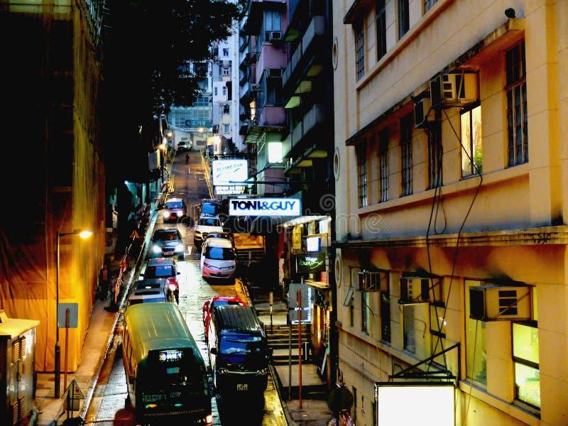 Hong Kong from Mid-level escalators royalty free stock photography