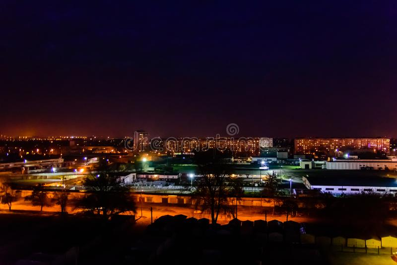 View on the midnight city Kremenchug, Ukraine. View on a midnight city Kremenchug, Ukraine stock photo