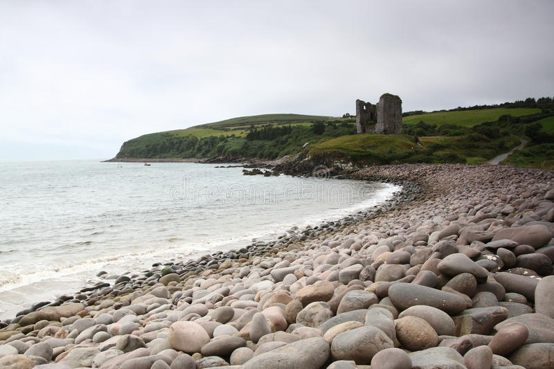 View of Minard Castle royalty free stock photo