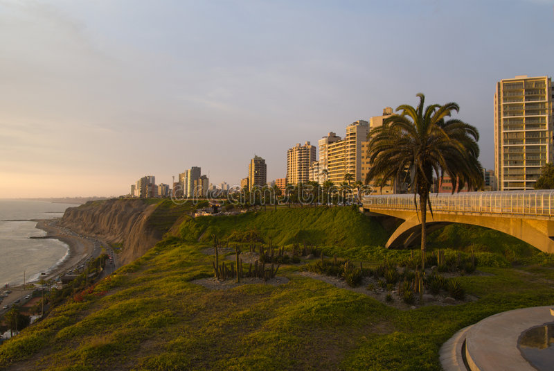 View of Miraflores. Lima - Peru royalty free stock photos