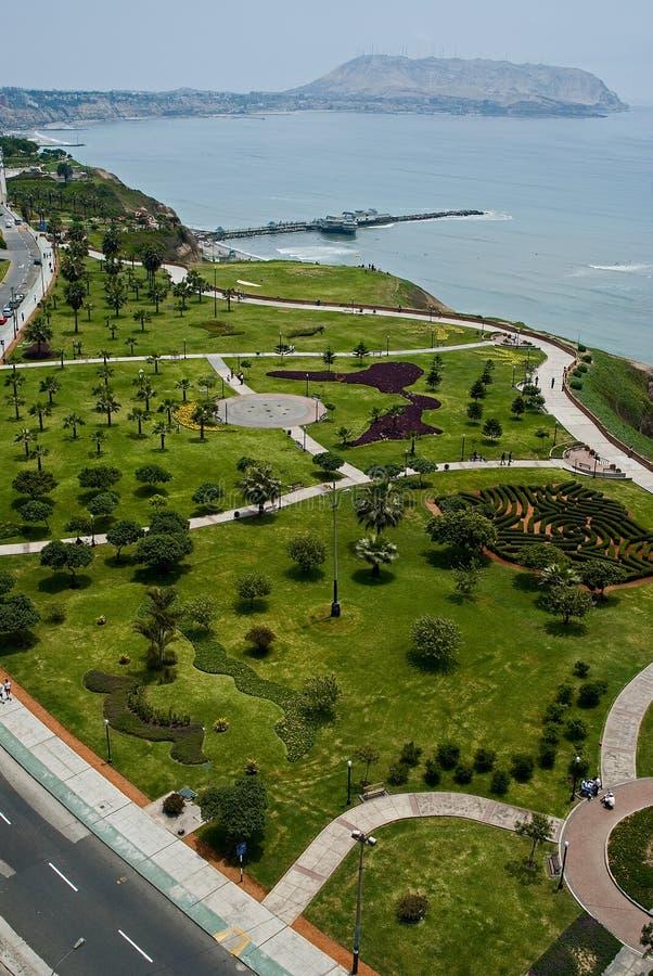View of Miraflores Park, Lima - Peru royalty free stock photos