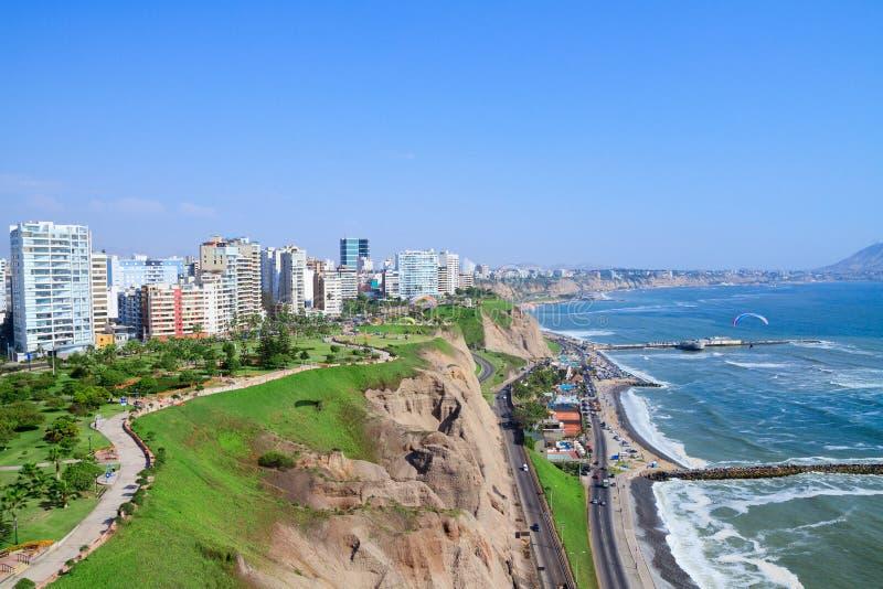 View of Miraflores Park, Lima - Peru. Aerial view of Miraflores Park, Lima - Peru royalty free stock images
