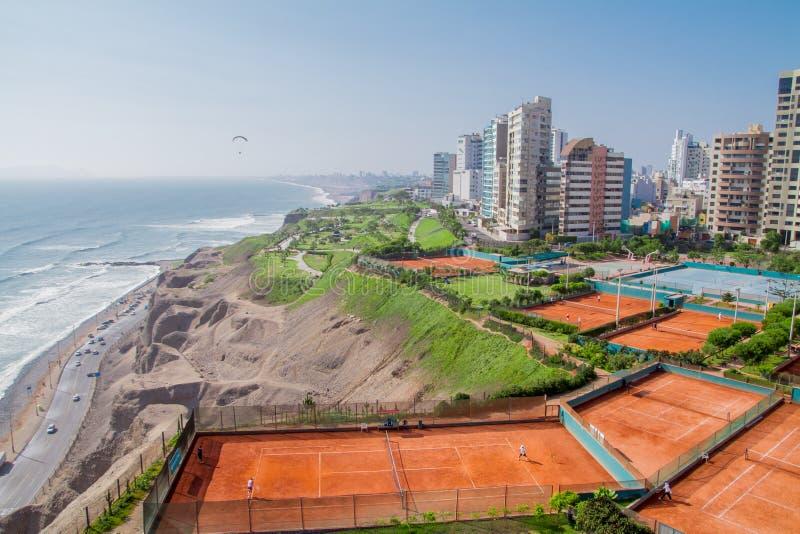View of Miraflores Park, Lima - Peru. Aerial view of Miraflores Park, Lima - Peru royalty free stock photography