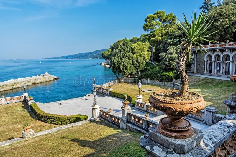 View from Miramare Castle near Trieste, Italy. View from Miramare Castle near Trieste, northeastern Italy. Travel destination royalty free stock images