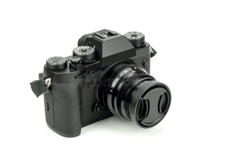 Mirrorless black Camera royalty free stock images