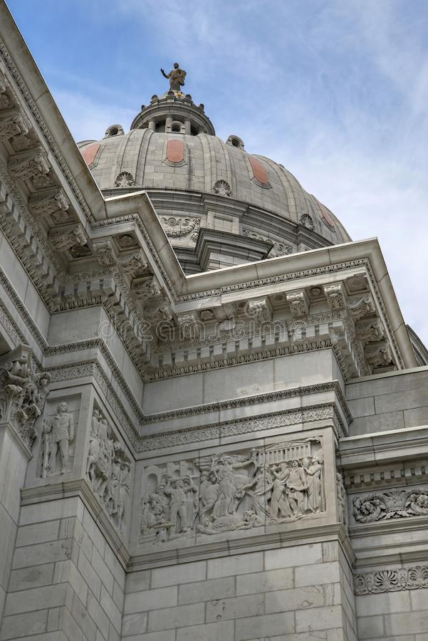 Missouri State capital. View of the Missouri state capital building and dome stock photography
