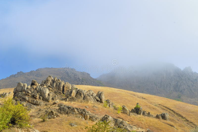 Download View Of Misty Fog Mountains Stock Image - Image: 28751231