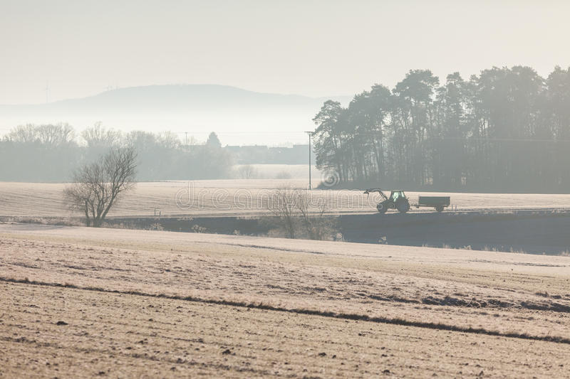 Download View Of Misty Rural Countryside Early Morning Stock Photo - Image: 83709424
