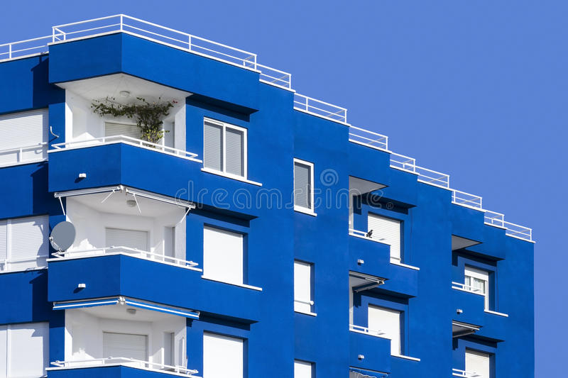 View of a modern building with balconies royalty free stock photo