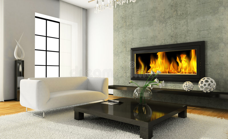 View on the modern interior vector illustration