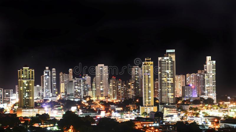 View of the modern skyline of Panama City stock photography