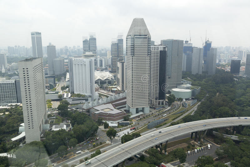 View of the modern urban skyline stock photos