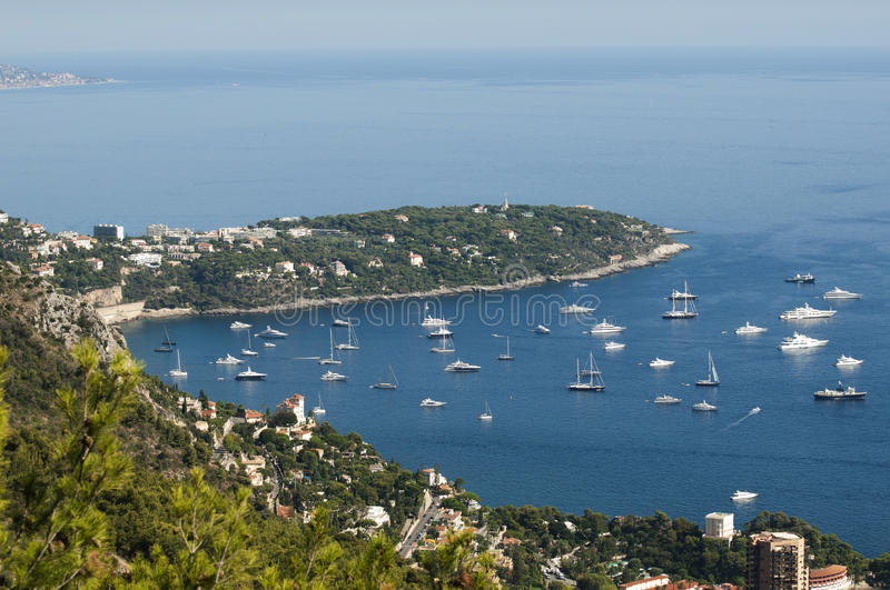 View of Monaco. And many yachts in the bay stock photo