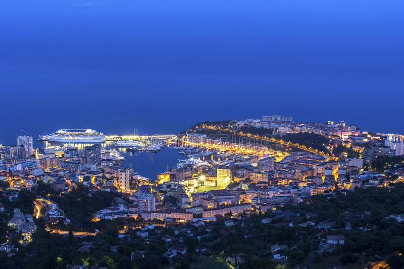 View on Monaco in the evening royalty free stock photos