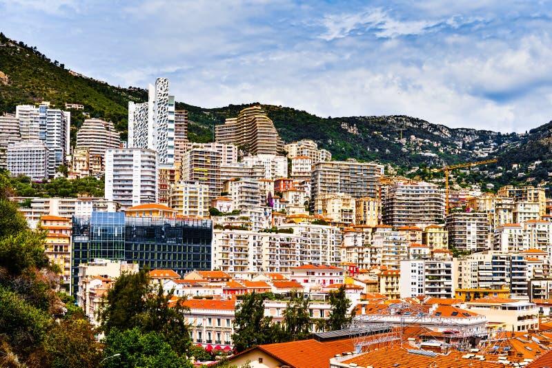 Monaco. View of Monaco harbour, Monte Carlo stock photos