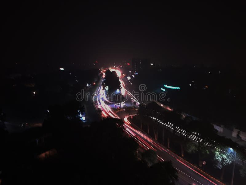 A view from monal hotel Lahore stock photography