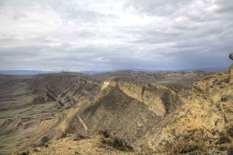 View from Monastery Udabno. Sagarejo municipality, the Gareji ridge. Kakheti. Georgia stock photos