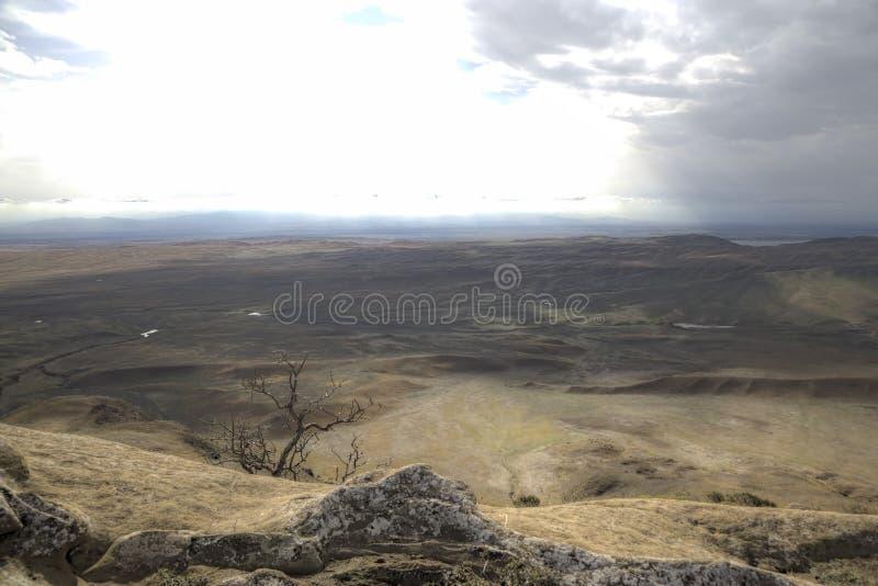 View from Monastery Udabno. Sagarejo municipality, the Gareji ridge. Kakheti. Georgia royalty free stock photos