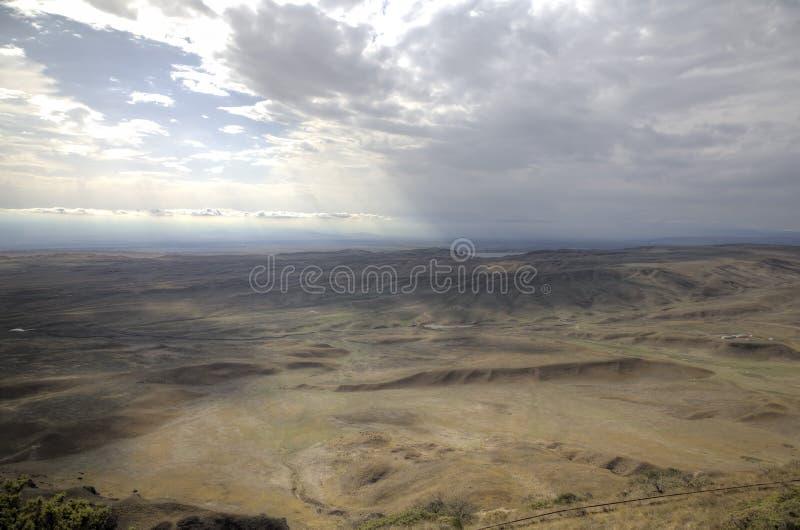 View from Monastery Udabno. Sagarejo municipality, the Gareji ridge. Kakheti. Georgia stock images