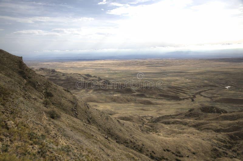 View from Monastery Udabno. Sagarejo municipality, the Gareji ridge. Kakheti. Georgia royalty free stock photography