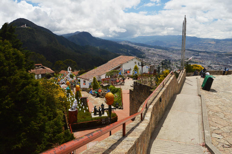 View from Monserrate mountain in Bogota, Colombia royalty free stock photography