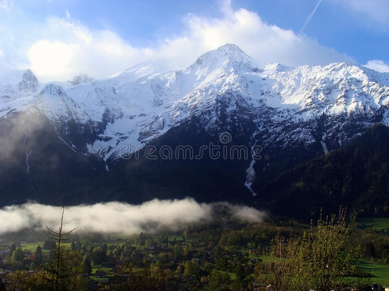 View of Mont Blanc, Chamonix, France royalty free stock photo