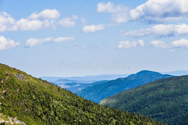 View from the Mont Jacques-Cartier. In Quebec, Canada stock images