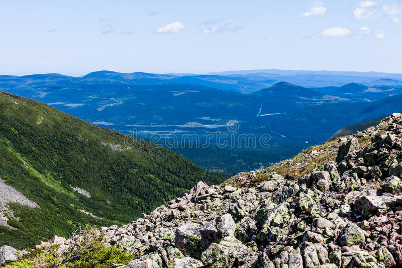 View from the Mont Jacques-Cartier. In Quebec, Canada stock photography