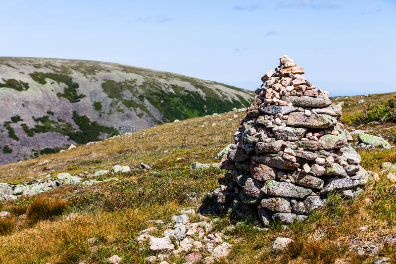 View from the Mont Jacques-Cartier. In Quebec, Canada and its famous rock piles stock photo