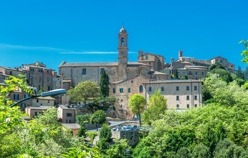 View of Montepulciano, Tuscany, Italy. Europe stock photography