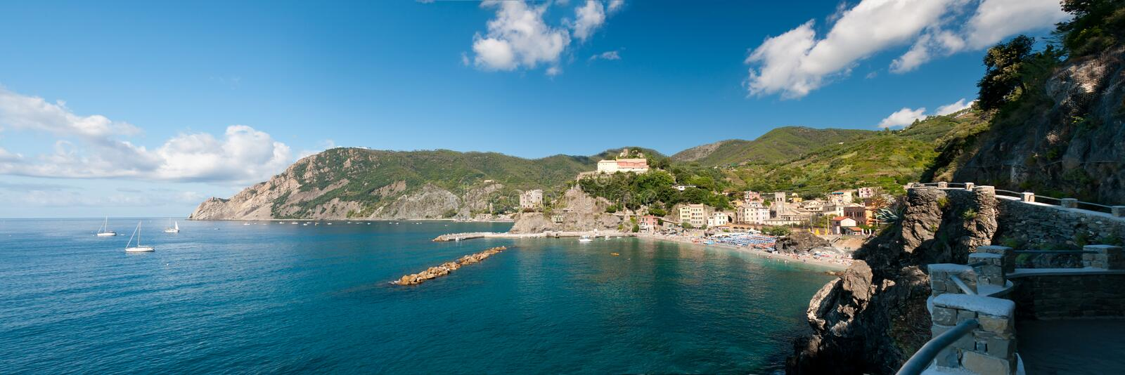 View at the Monterosso stock photography