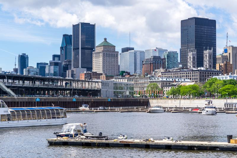 View on Montreal Old Port royalty free stock photography